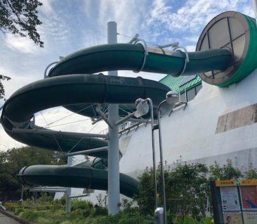 引地台公園・温水プールのウォータースライダー1