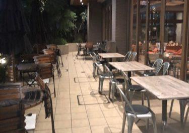 ロイヤルガーデンカフェのテラス席