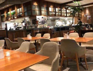ロイヤルガーデンカフェの店内奥からの風景