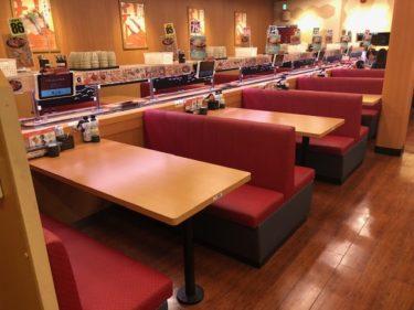 スシロー・テーブル席