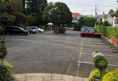 うかい亭の駐車場