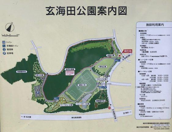 玄海田公園の地図