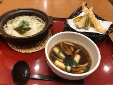 味の民芸・鴨汁つけうどん 天ぷらセット