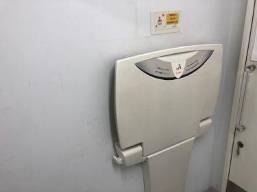 大和市渋谷学習センター おむつ交換台(トイレ内)