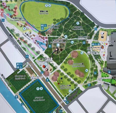 鶴間公園の地図