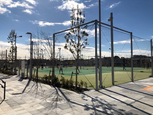 鶴間公園・テニスコート