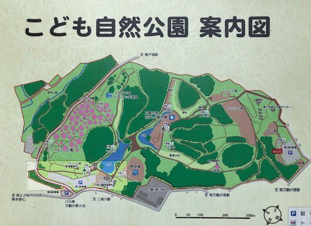 子供自然公園・案内図