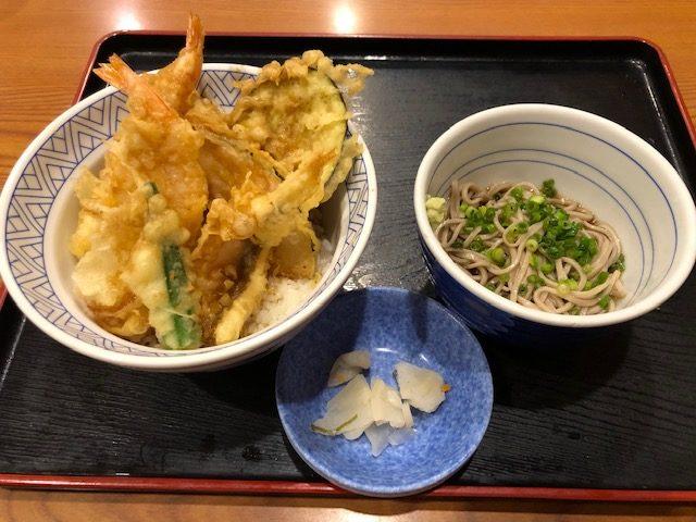 夢庵・天丼と小冷やし蕎麦セット