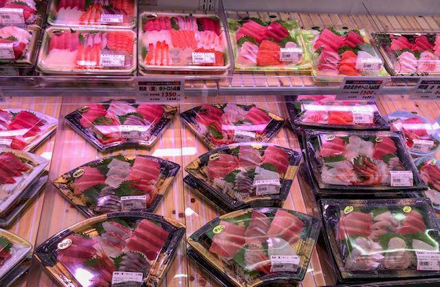 生鮮市場・刺身コーナー