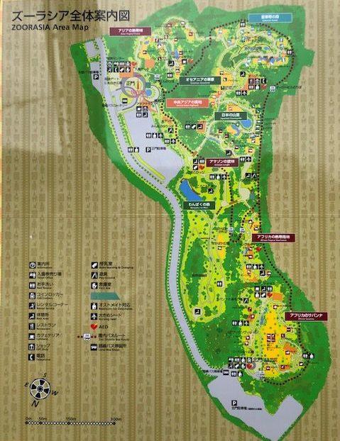 ズーラシア・園内マップ