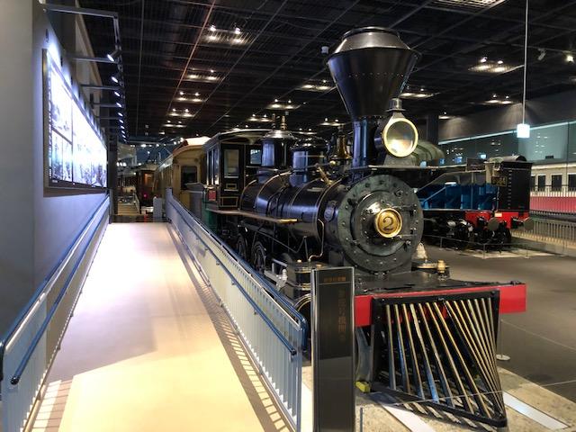 鉄道博物館・車両ステーション(弁慶号機関車)