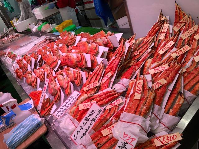 生鮮市場・蟹コーナー