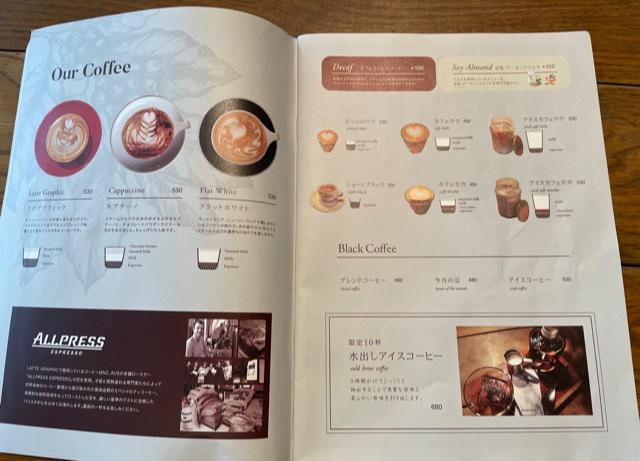 ラテグラフィック・メニュー(カフェ)
