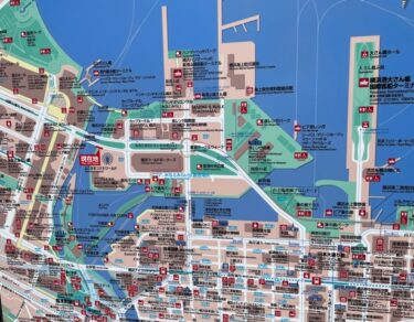 横浜コスモワールド・地図