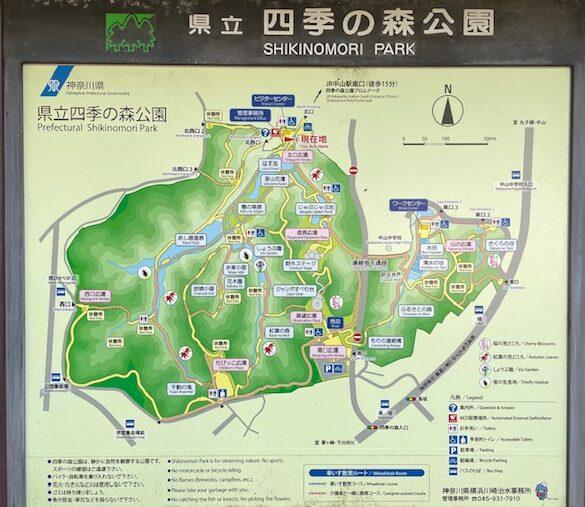 四季の森公園・全体地図