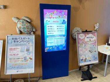 新江ノ島水族館・誕生日サービス