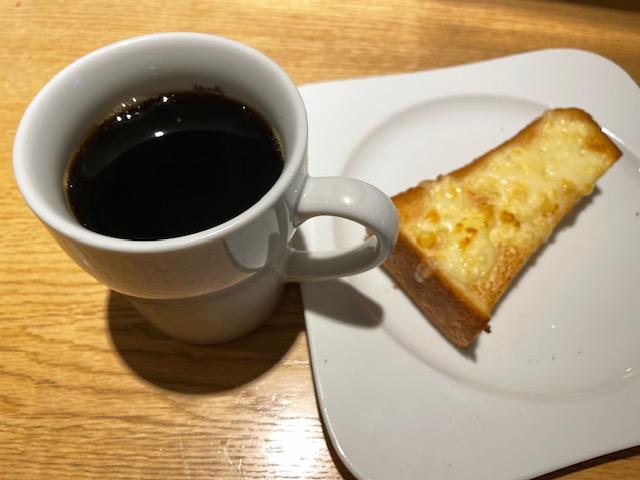 むさしの森珈琲・モーニング(チーズトースト)