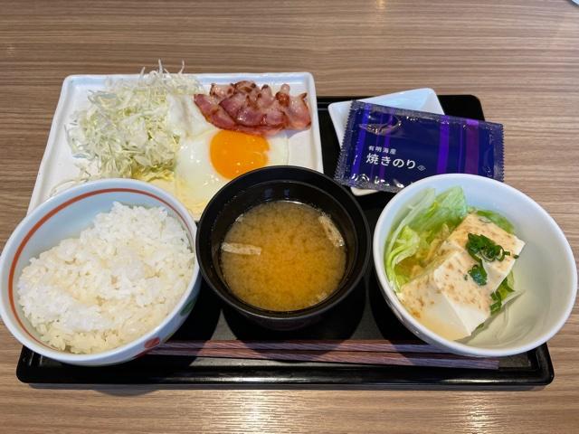 デニーズ・和朝食(ベーコンエッグ朝食)