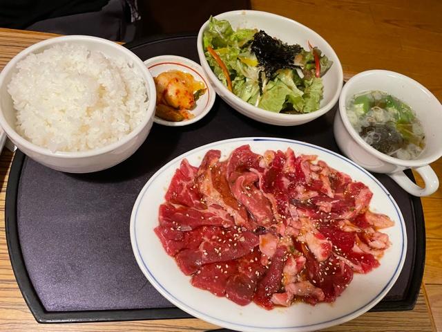 大福・バラカルビとロースランチ(肉増し)