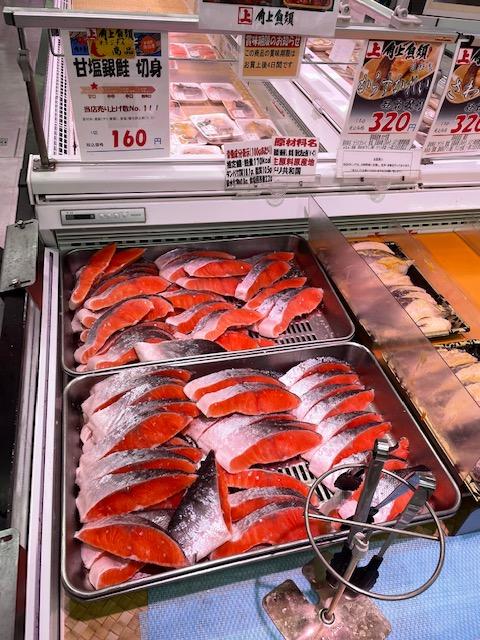 生鮮市場・鮭コーナー